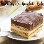 Bolo e biscoitos de chocolate, bolo de avó
