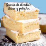 Brownies de chocolate branco e pistache no thermomix