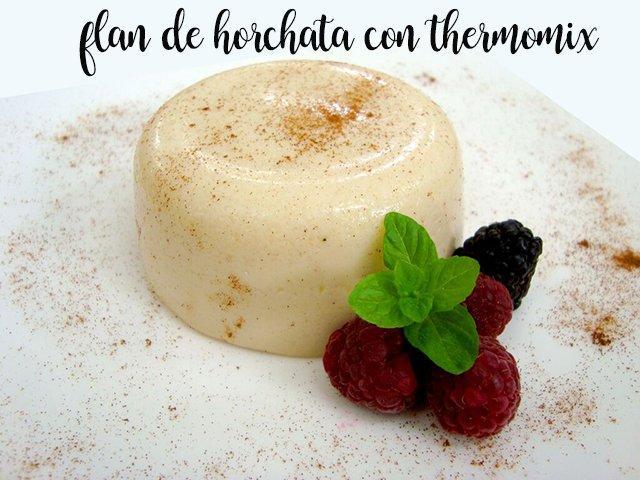 Horchata Flan com o thermomix