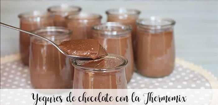 Iogurtes de chocolate com o Thermomix