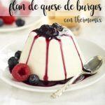 Flan de queijo Burgo com thermomix