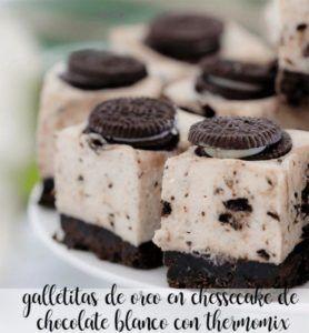 Oreo cookies em cheesecake de chocolate branco com thermomix