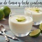 Sobremesa de limão e leite condensado com thermomix