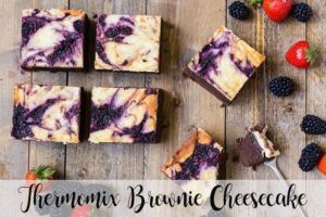 Cheesecake de brownie com thermomix
