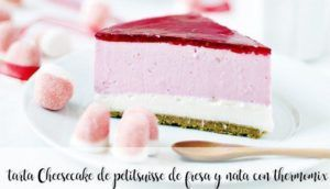 Cheesecake de morango e creme petit suisse com thermomix