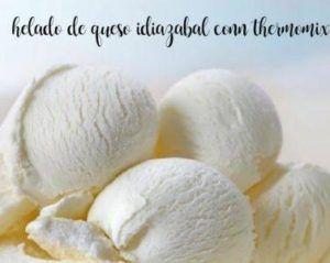 Sorvete de queijo Idiazabal com thermomix