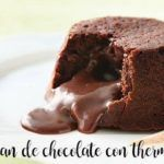 Vulcão de chocolate com thermomix