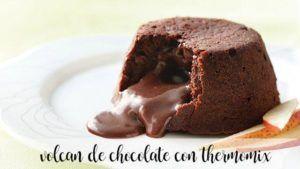 Vulcão de chocolate com thermomix