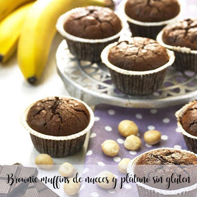 Muffins de noz e banana sem glúten brownie com thermomix