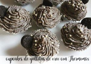Cupcakes de biscoito Oreo com Thermomix