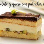 Bolo de chocolate e queijo com pistache com thermomix