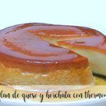 Pudim de queijo e horchata com Thermomix