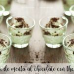 Creme de menta com chocolate com thermomix