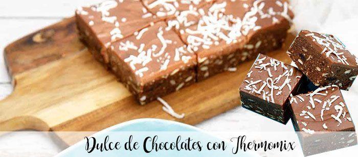 Doces de chocolate com thermomix