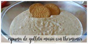 Espuma de Biscuit Maria com Thermomix