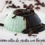 Panna Cotta de Menta com Chocolate com Thermomix