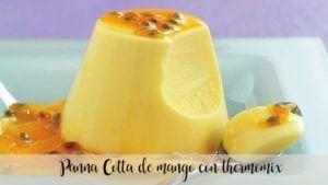 Mango panna Cotta com thermomix
