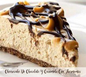 Cheesecake de chocolate e caramelo com Thermomix