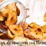 Chips de maçã com Thermomix