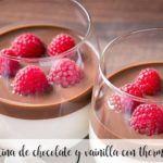 Geléia de chocolate e baunilha com thermomix