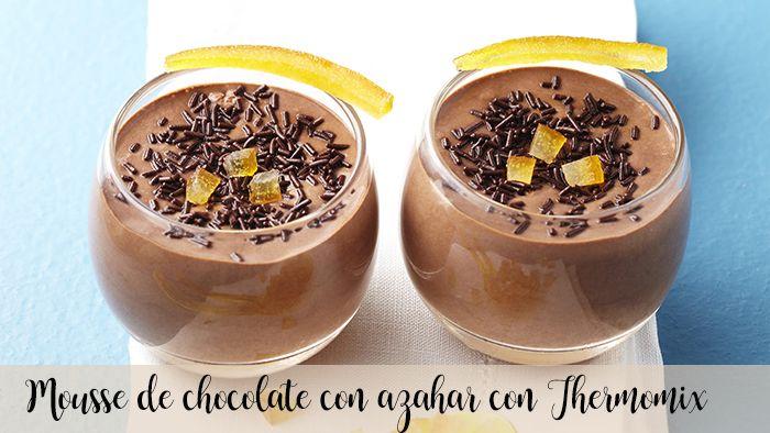 Queijo mascarpone e mousse de chocolate com Thermomix