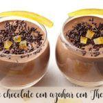 Mousse de chocolate com flor de laranjeira com Thermomix