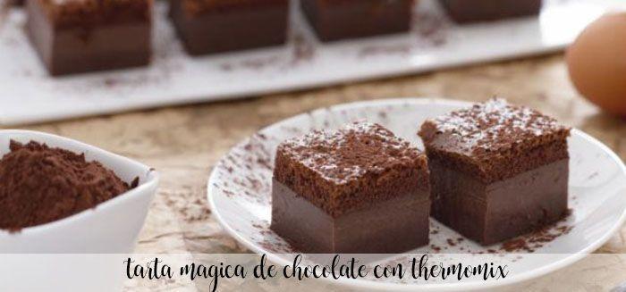 Bolo de chocolate mágico com Thermomix