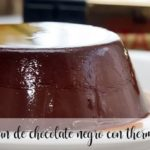 Pudim de chocolate escuro com Thermomix