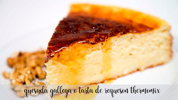 Quesada gallega ou torta de queijo cottage com thermomix