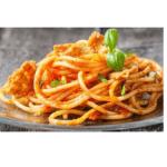Espaguete sem glúten com atum e tomate para thermomix