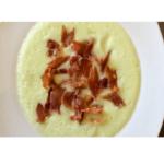 Sopa fria de melão com lascas de presunto ibérico em Thermomix