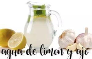 Água de alho e limão, queimar gordura natural com termomix