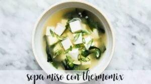 Sopa Miso Japonesa com Thermomix