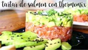 Tártaro de salmão com Thermomix