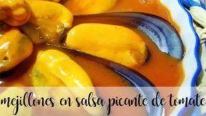 Mexilhões Cozidos a Vapor com Molho de Tomate Picante com Thermomix
