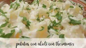 Batatas com aioli com Thermomix