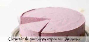 Cheesecake de framboesa vegan com Thermomix