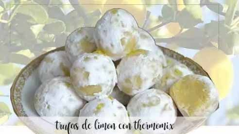 Trufas de limão com termomix
