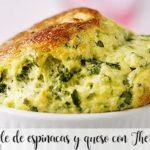 Suflê de espinafre e queijo com Thermomix