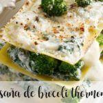 Lasanha de brócolis com Thermomix
