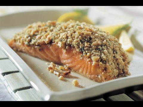 Receita de salmão com pistache crocante no Thermomix