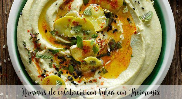 Hummus de abobrinha com feijão com Thermomix