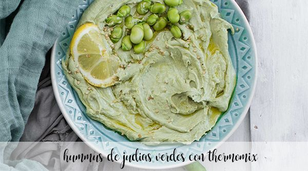 Hummus de feijão verde com thermomix