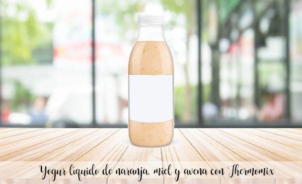 Iogurte líquido de laranja, mel e aveia com Bimby