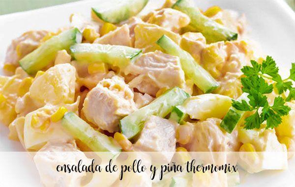Salada de frango e abacaxi com termomix