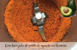 Como fazer o pó de semente de abacate com termomix