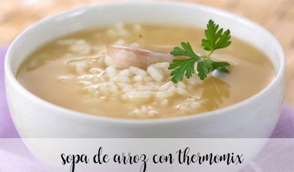 Sopa de arroz com termomix